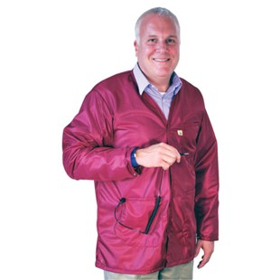 Tech Wear VOJ-33KEY V-Neck Groundable ESD-Safe Shielding Jacket, Medium