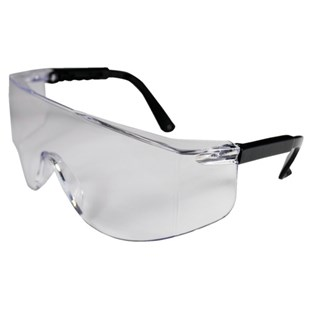 PIP 250-03-0000 Clear Over-The-Glass (OTG) Safety Glasses, Anti-Scratch Hard Coat Lens