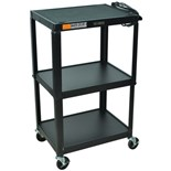 "Luxor Adjustable Height Utility Cart, 18"" W x 24"""