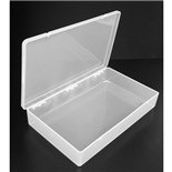 "Dewitt Plastics C2755-O Clarified Polypropylene Parts Box, 11"" x 6-1/2"" x 1-3/4"""