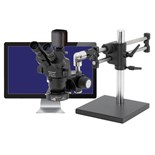 "O.C. White TKPZT-LV2 True Trinocular with 5MP Camera and 22"" LED Screen"