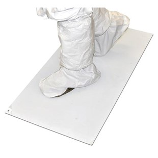 """Clean ESD Products TCKY-26X45-8 Adhesive Entrance Mat, White, 26 x 45"""" (8 Mats/Case)"""