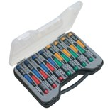 Eclipse ProsKit 800-073 15-Pc Precision Screwdriver Set with Phillips, Slotted, Hex and Torx