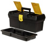 "Stanley Tool Box Series 2000 w/ Built In Organizers, 16"" x 7-1/2"" x 7"""