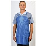 Tech Wear BEA-43 Blue Static Shielding BBQ-Style Apron with 3 Pockets