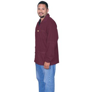 Desco 73903 Burgundy ESD-Safe Shielding Jacket, Large
