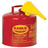 Eagle UI-50-FS Type-I Flammable Safety Can with Funnel, 5 Gallon