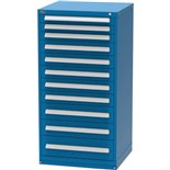 """Vidmar SEP3306AL Drawer Cabinet with 11 Drawers and 192 Compartments, 27.75"""" x 30"""" x 59"""""""