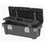 "Stanley 020300R Professional Tool Box with Tray, 20"" x 11"" x 10"""