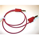 Mueller BU-2020-A-12-2 Test Lead, Stackable 4mm Banana Plugs Over-Molded Each End, 20 AWG PVC Wire, 5 Amps, 12""