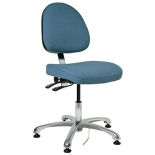 "Bevco 9051M-E Integra Series Ergonomic Static-Safe Chair w/Tilt Seat and Medium Back, Slate Blue Fabric, 15-1/2"" - 21"""