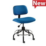 "Bevco 4600-F-CADS/5 Fabric Chair, Non-Tilt, Welded Footring, HF Casters, Adjustable Height 26""-31"", Westmound Series"
