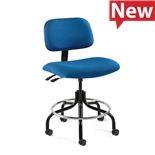 "Bevco 4601-F-CADS/5 Fabric Chair, Articulating Tilt, Welded Footring, HF Casters, Adj. Height 26""-31"", Westmound Series"
