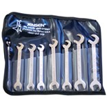 Jensen Tools Midget Open End Wrench Set, Metric, 8pc.