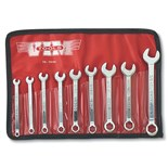Jensen Tools CW100 Mini. Comb. wrench Set, Inch, 9pc.