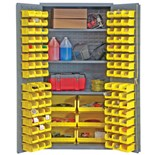 Durham MFG 3501-BDLP-102-3S-95 Heavy Duty Storage Cabinet with 3 Shelves and 102 Bins