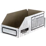 "Lyon 8352 Corrugated Shelf Bins, 2"" W x 11-3/4"" D x 4-1/2"" H, 100/Pkg."