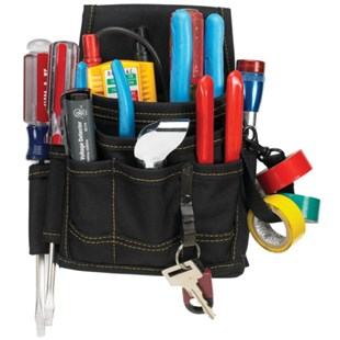 Custom Leather Craft 1503 9 Pocket Electrical and Maintenance Pouch