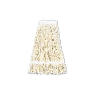 UNS424C Pro Loop Web/Tailband Wet Mop Head, Cotton, 24-oz., White