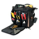 "Custom Leather Craft 1537 33 Pocket  13"" Multi Compartment Soft Sided Tool Carrier"
