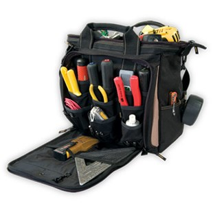 """Custom Leather Craft 1537 33 Pocket  13"""" Multi Compartment Soft Sided Tool Carrier"""