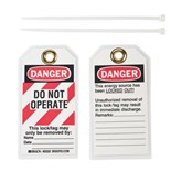 Brady Danger Lockout Tags, 25/Pkg