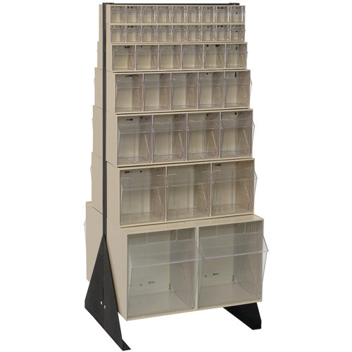 Quantum Storage Systems QFS248 76 Clear Tip Out Bins With Floor Stand