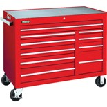 """Proto J455041-10RD 10-Drawer Red Rolling Cabinet 50-1/2"""" Wide 41"""" Tall"""