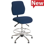 "ShopSol 1010432 ESD-Safe Deluxe Industrial Chair,20"" - 27.5"" Seat Height"