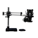LX Microscopes by UNITRON 23725RB-HDTRTHOL-ESD ESD Tru-Trinoc 23mm Microscope, RB Stand with HO LED ring light, Video Adapter, HD Camera with HD & USB w/Software