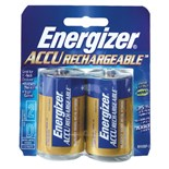 Eveready NH50BP-2 D Rechargeable Batteries, 2/pk.