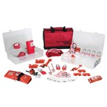 Masterlock 1458VE410 Lockout/Tagout Valve and Electrical Kit with Plastic Locks