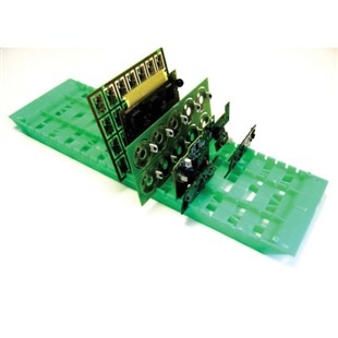 """Fancort RA-18SDG Green Static Dissipative PCB Holder for Lead-Free Boards, 6"""" x 18"""" with 25 Slots"""