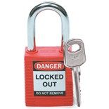 Brady 99552 Brady Safety Padlock with Key