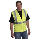 PIP 302-MVGZ4PLY ANSI Class 2, Four Pocket Mesh Vest, X-Large