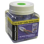 Platinum Tools 202015J EZ-RJ45 Cat5e 50/50 Combo Jar
