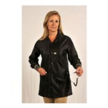 Tech Wear LOJ-93C Groundable Anti-Static Unisex Jacket with Knit Cuffs, Black, Medium