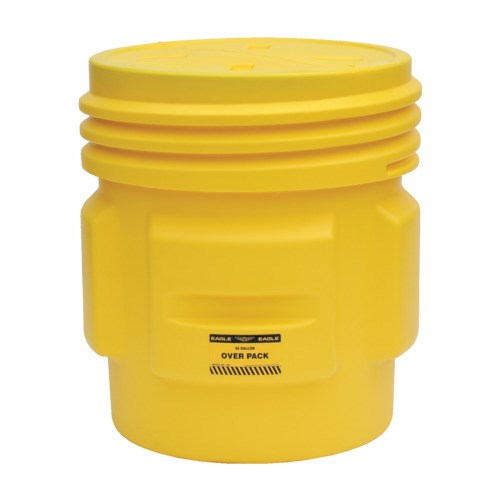 Eagle 1661 Poly Spill Containment Drum Overpack with Screw On Lid
