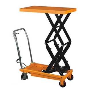 "Wesco LT-770DSL Double Scissors High Lift Table with Fixed Handle, 770 lb Capacity, 19-1/2"" W x 45.5"" D x 37"" H"