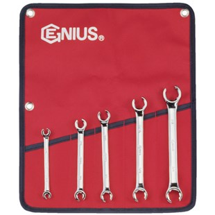 Genius Tools FN-005S 5-PC SAE Flare Wrench Set