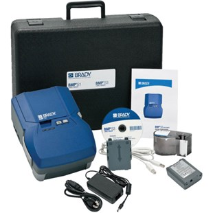 Brady BMP53-KIT-AC-BP BMP53 Label Printer with Rechargeable Li-Ion Battery Pack and AC Adaptor/Battery Charger