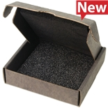 "Protektive Pak 39542 Small Component Shipper, Black Foam Top/Bottom, 3-3/4"" x 3-3/4"" x 1"""
