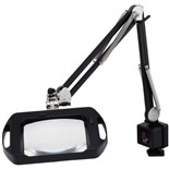 O.C. White 72400-B 3-Diopter ESD-Safe Black Fluorescent Magnifier