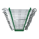 SK Hand Tools 86265 15-Piece SuperKrome® Metric Combination Wrench Set