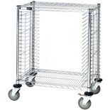 "Quantum Storage Systems TC-19CO ESD-Safe Tray Cart, Side Load, 18"" x 30"" x 39"""