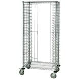 "Quantum Storage Systems TC-39CO ESD-Safe Tray Cart, Side Load, 18"" x 30"" x 69"""