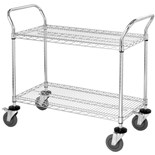 "Quantum Storage Systems WRC-1836-2CO ESD-Safe 2-Shelf Utility Cart, 18"" W x 36"" L x 37-1/2"" H"