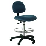 """Industrial Seating PL10-F Heavy Duty Standard Chair, Blue Fabric, Adjustable Height 21"""" - 31"""""""