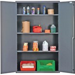 """Quantum Storage Systems QSC-3IS Wide All-Welded Storage Cabinet, Gray, 48""""W x 24""""D x 78""""H"""