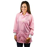 Desco 74204 Statshield® Static Dissipative Jacket with Knit Cuffs, Pink, X-Large